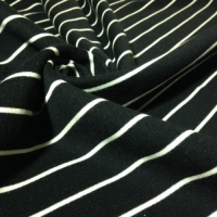 Organic Black and White Stripe